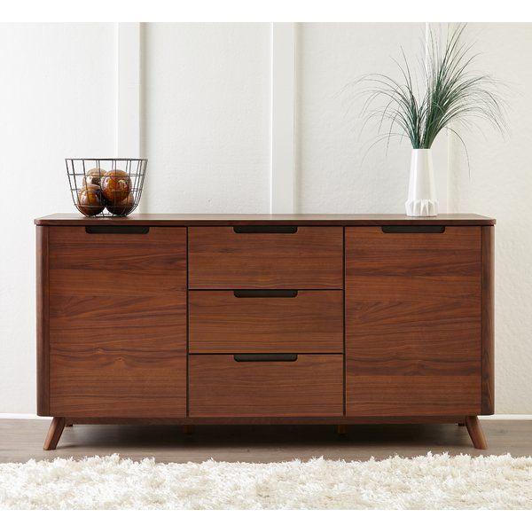 Clayborn 3 Section Sideboard Allmodern Scandinavian Dining Room Furniture Home Decor