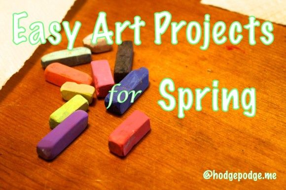 Easy Art Projects for Spring at www.hodgepodge.me