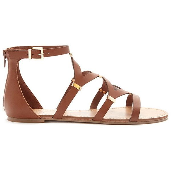 Sandals ($25) ❤ liked on Polyvore featuring shoes, sandals, forever 21 shoes, forever 21 sandals and forever 21