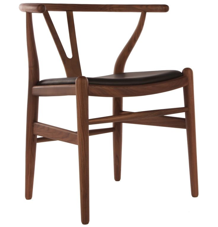 The Matt Blatt Replica Hans Wegner Wishbone Chair - Leather - Matt Blatt