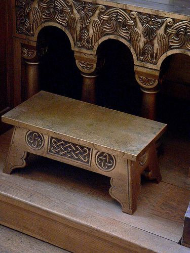 Byzantine motifs are featured on Queen Marie of Roumanias gilded wood furniture circa 1900 to 1910 14