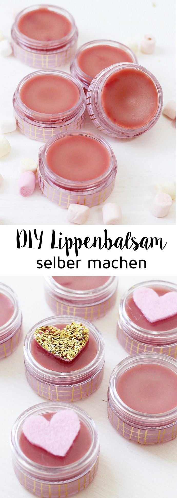 Make DIY lip balm from shea butter yourself: Great gift idea!