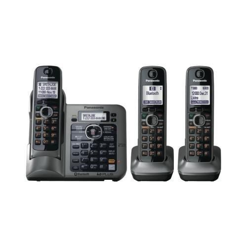 Panasonic Kx-Tg7643m Dect 6.0 Link-To-Cell Phone (3-Handsets) New - Retail. 30-Day Mfg Warranty. Panasonic KX-TG7643M. Panasonic Kx-Tg7643m Dect 6.0 Link-To-Cell Phone (3-Handsets).  #Panasonic #Car_Audio_or_Theater