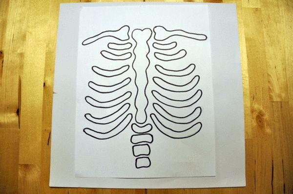 DIY Halloween Skeleton Baby Maternity Shirt - Skeleton Template