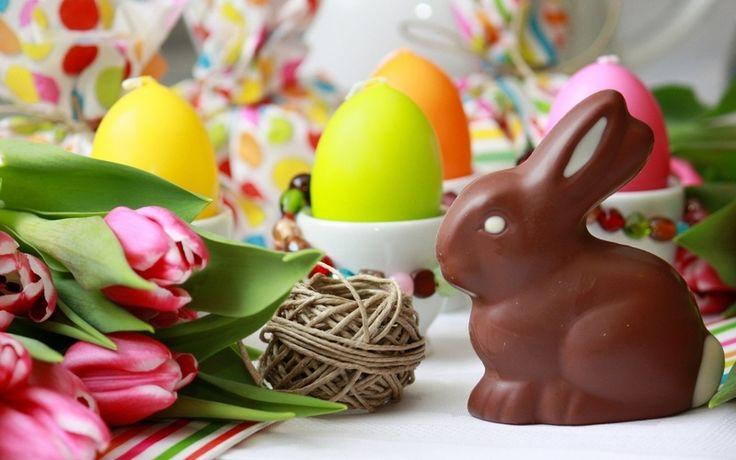 яйца, Пасха, шоколадный заяц, праздник