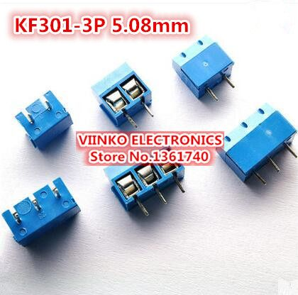 Free shipping 50PCS KF301-3P 5.08mm 3 Pin Connect Terminal Screw Terminal Connector