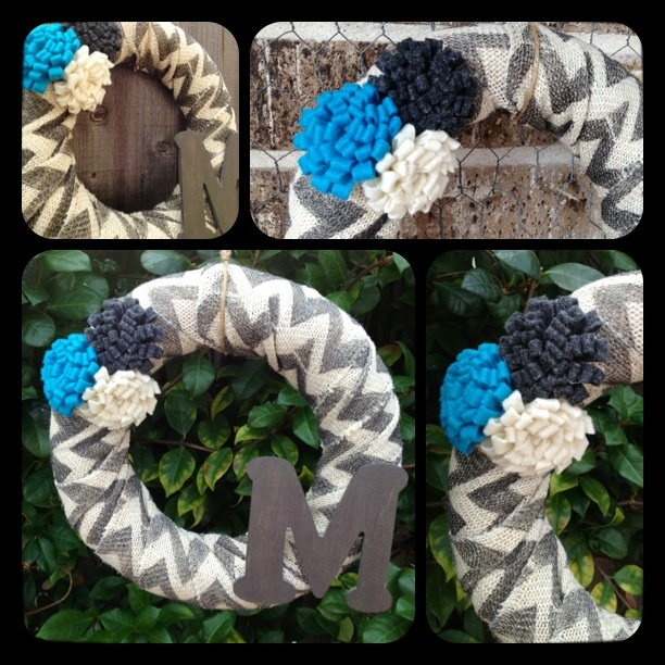 Chevron Burlap Wreath By Sassy Cajun Http M Facebook Com