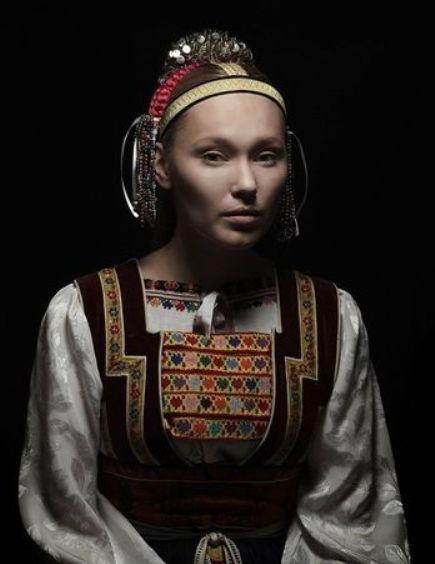 """""""Parta"""" headgear from Torysky, Slovakia"""