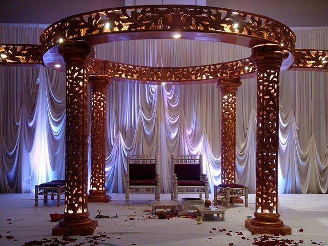 soma sengupta indian wedding decorations architectural drama - Home Wedding Decoration Ideas