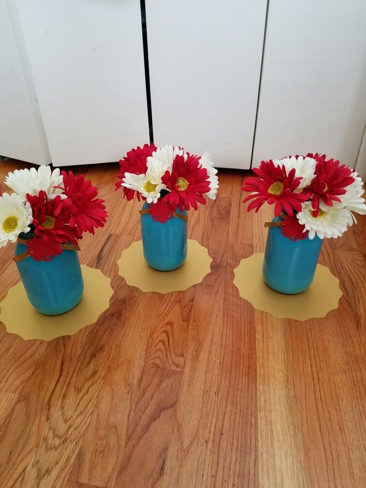 Centerpieces for Elena of Avalor bday party