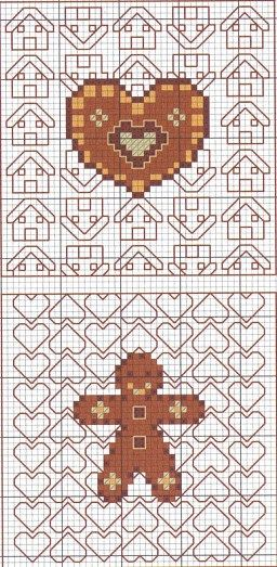 cross-stitch gingerbread biscornu... no color chart available, just use the…