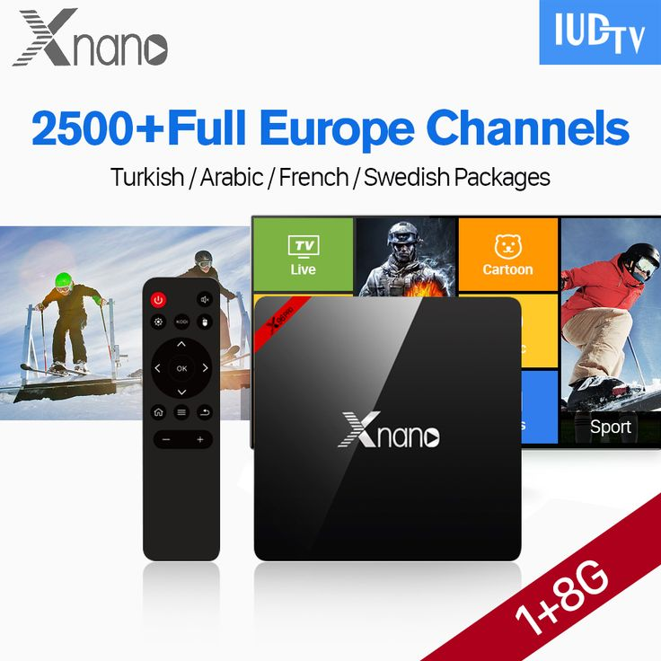 XNANO IPTV Box Android 6.0 Quad Core 2500 Channels IUDTV Subscription IPTV Europe Spain Germany Italy England Greece VIP Sports
