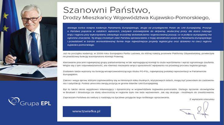 pierwsza strona folderu na zlecenie Parlamentu Europejskiego (projekt i druk M4Bizz)