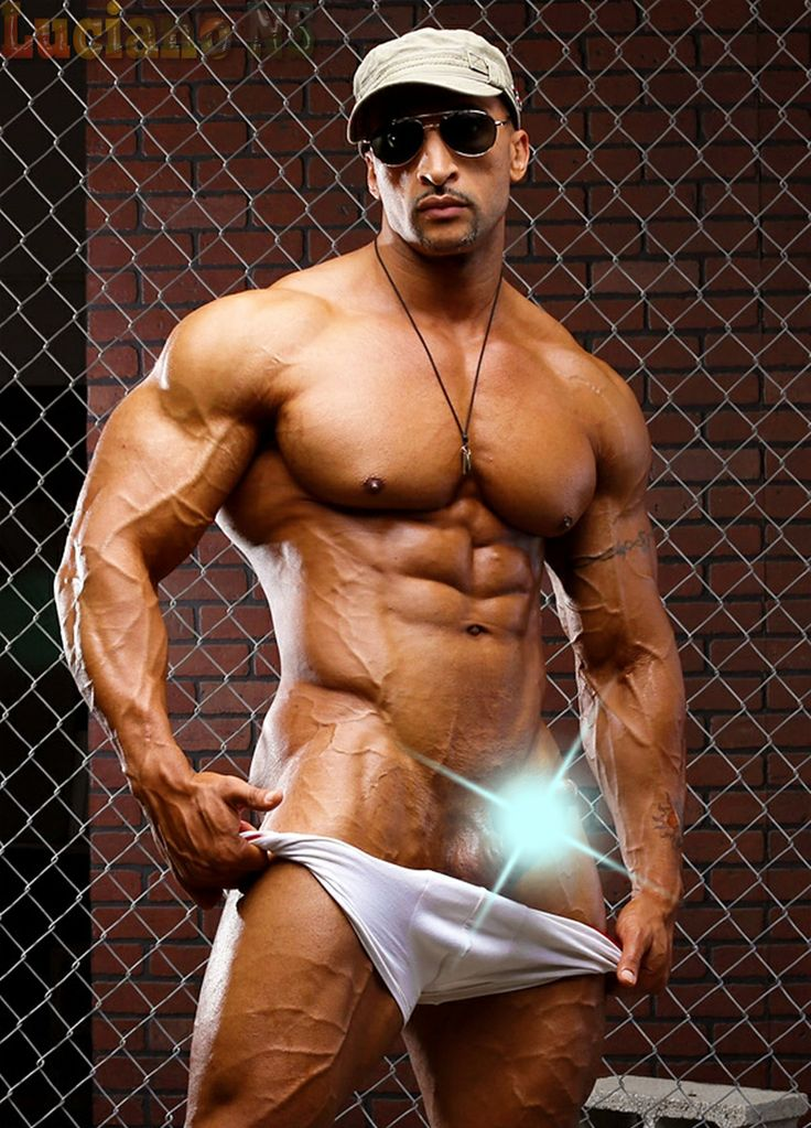 Bodybuilder male naked fake