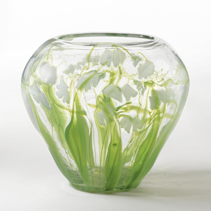 """TIFFANY STUDIOS  """"LILLIES OF THE VALLEY"""" PAPERWEIGHT VASE"""