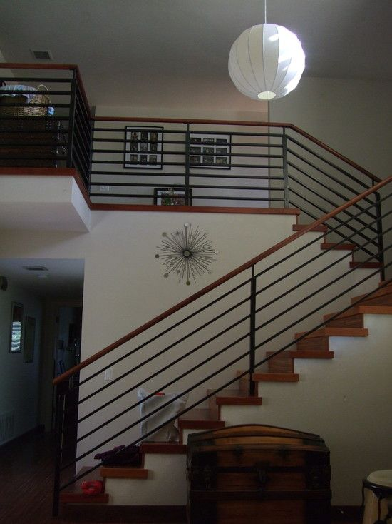Modern Iron Banister Design, Pictures, Remodel, Decor and Ideas