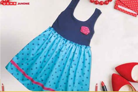 Convert your Tees to Beautiful frock using the Usha My FAb barbie sewing machine: https://goo.gl/nHt0xj