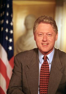 Official portrait of President Clinton, May 12, 1999.  Photograph from the William J. Clinton Presidential Library.