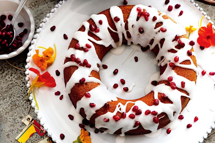 Orange blossom water adds a light floral flavour to this spicy Moroccan cake.