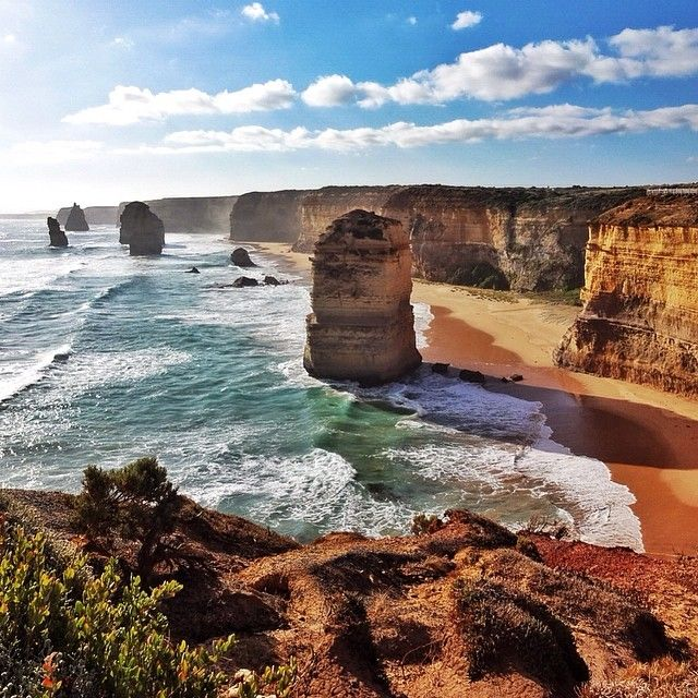 A great #swell exists within the #emerald waters of the #beach the #twelveapostles reside.