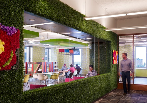 The Qube building cafeteria in Quicken Loans