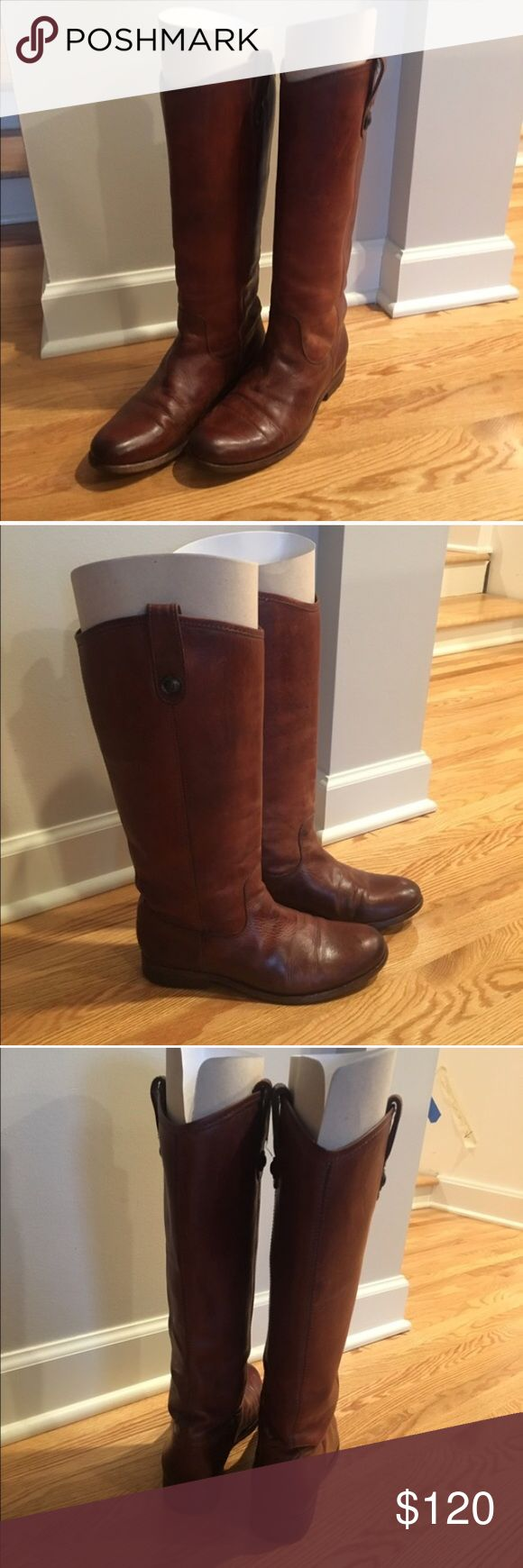 Frye Melissa Boots Professionally cleaned in November, worn but still have a lot of life left, great boots! Frye Shoes Winter & Rain Boots