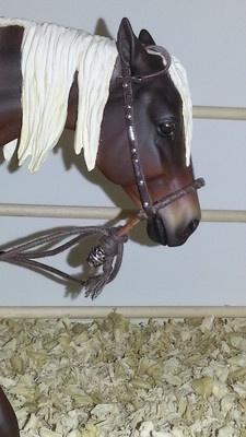 Breyer,Peter Stone,resin Horse Western Bridle bosal for Smaller Trad Model LSQ
