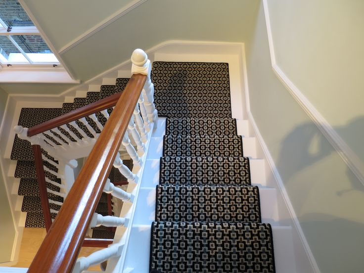 Geometric Pattern Stripe Stair Runner By Bu0026R Carpet Company #carpet # Geometric #geo #