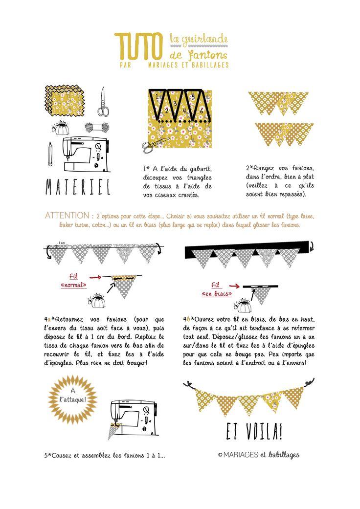 guirlande fanions tuto photobooth pinterest diy and crafts. Black Bedroom Furniture Sets. Home Design Ideas