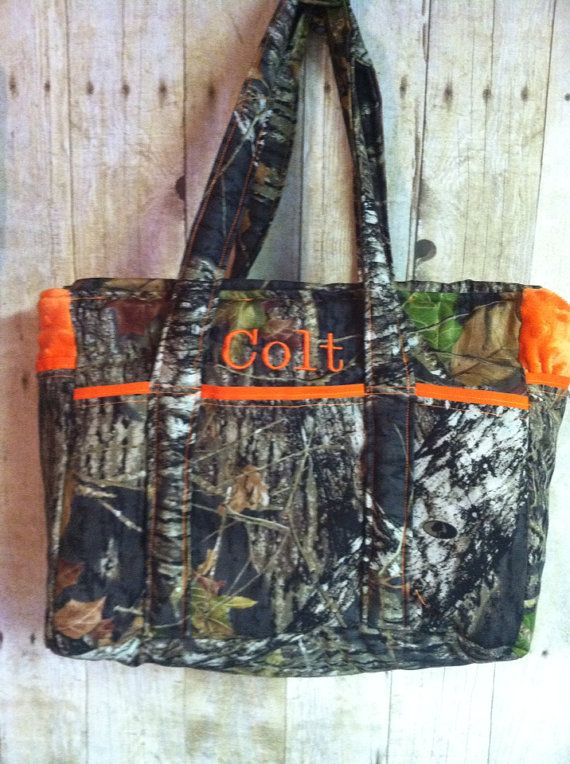 Camo Diaper Bag w/personalization Minky by ChickenCoopBoutique