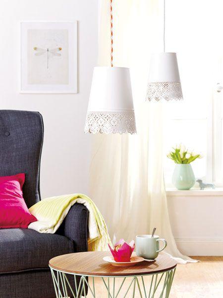 Blechübertöpfe lassen sich super als Lampenschirme zweckentfremden