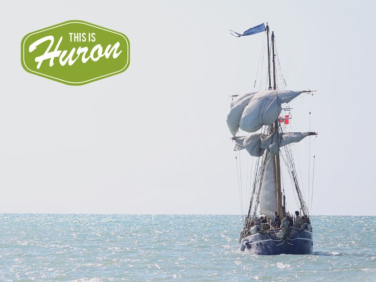 The Tall Ships arriving in Bayfield #Huron