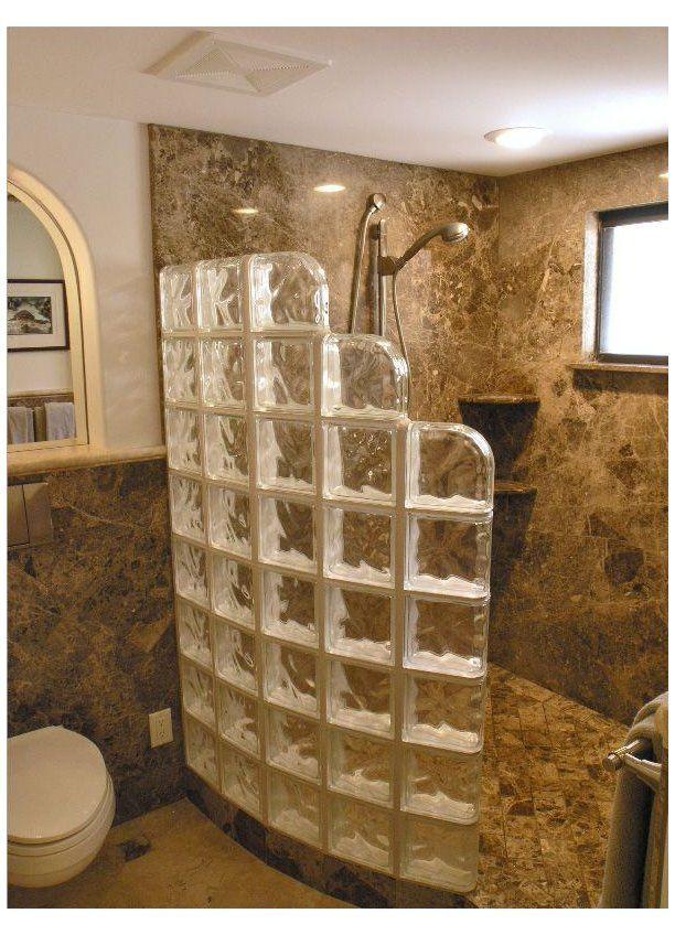 Doorless Walk In Shower 240825 Bathroom Glass Block Shower Doorless Shower Design Doorless Shower