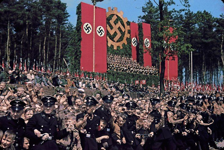 Volkswagen Works cornerstone ceremony, 1938 | A Brutal Pageantry: The Third Reich's Myth-Making Machinery, in Color | LIFE.com