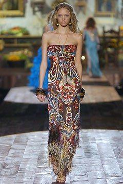 Roberto Cavalli Spring 2005 Ready-to-Wear Fashion Show - Gemma Ward