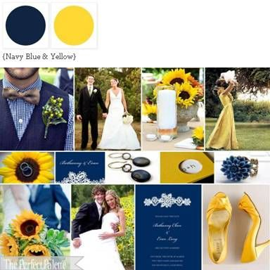 navy and yellow...my wedding colors