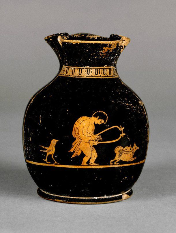 Small Athenian Red Figure Vase Chous C 400bc Showing