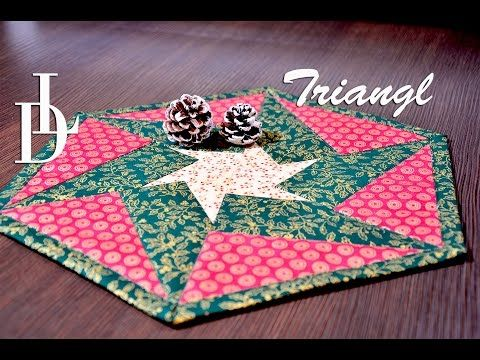 Patchworkové pravítko Triangl + DVD návod | Pravítka Patchwork | LIZA DECOR - Přikrývky, polštáře, střihy a pravítka na patchwork