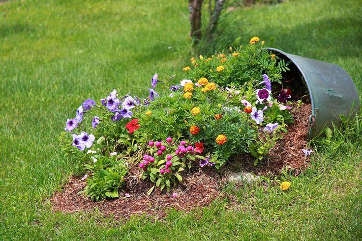 Come creare una bellissima cascata di fiori per abbellire il giardino utilizzando un vaso di fiori rovesciato: una classica decorazione facile da realizzare che donerà al giardino tutta la sua deli…