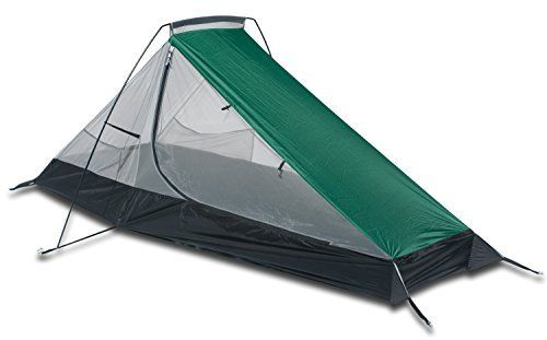 Aqua Quest West Coast Bivy Tent - One Person Single Pole Shelter - Comfortable, Fast Easy Setup, Ultralight, Compact - Green White