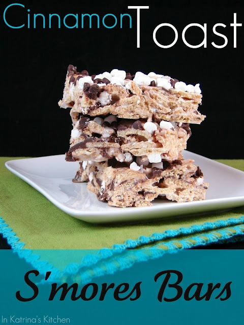 In Katrina's Kitchen: Cinnamon Toast S'mores Bars.  I just made these for our dessert tonight and they look scrumptious!