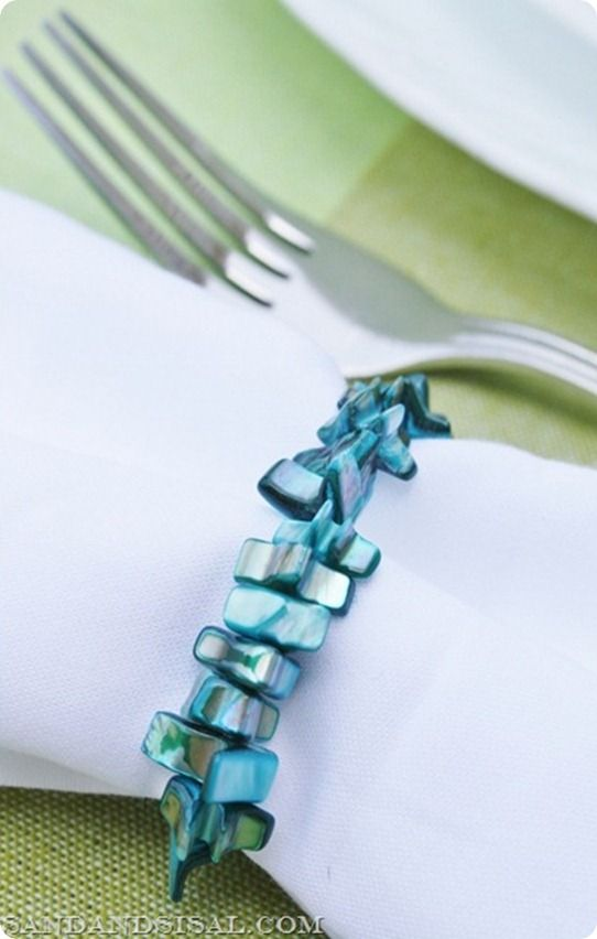 Super easy beaded napkin rings