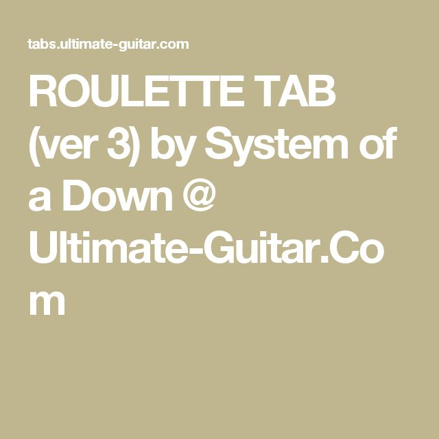 System Roulette Tab