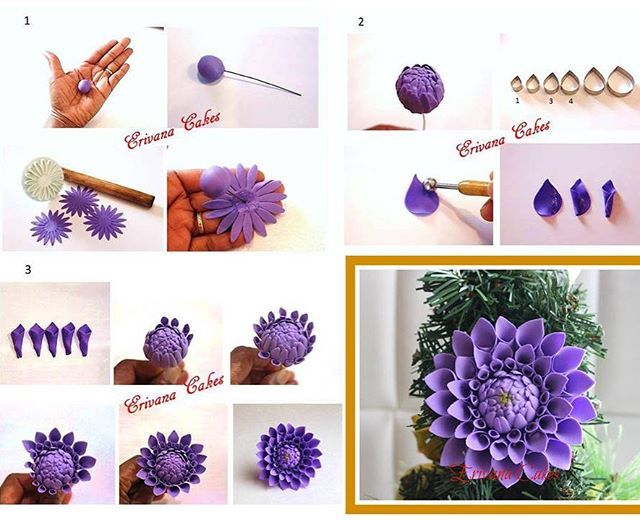Sugar Dahlia step-by-step Tutorial #edibleart #edibleflower #edibleflowers #gumpasteflowers #naijacakes #cakedecorating #erivanacakes #amelsusanproducts #247naijacakeaffairs #cakebakeoffng #sugarflower #sugarflowers