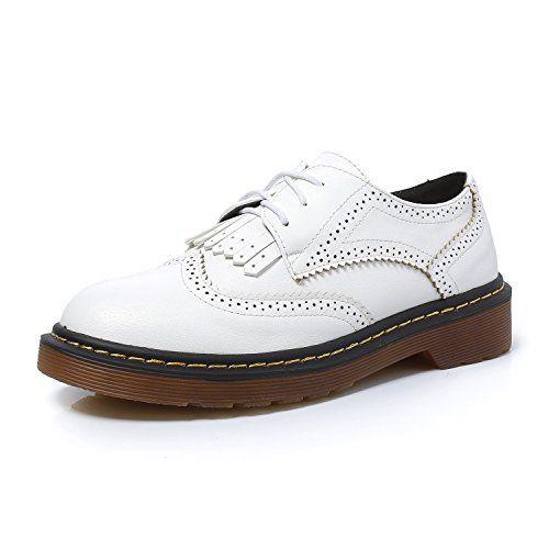 Smilun Ladys Oxford Shoes Fringe Classic Tassel Flats Round Toe  EECSRIQCR