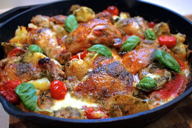 Chelsea Winter Italian chicken bake with herb vinaigrette - so amazing!!!