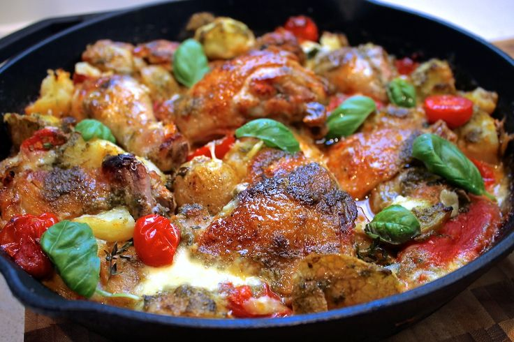 Chelsea Winter Italian chicken bake with herb vinaigrette - so amazing!!!