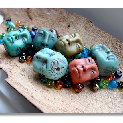 Handmade beads with accent beads by graphixoutpost, via Flickr