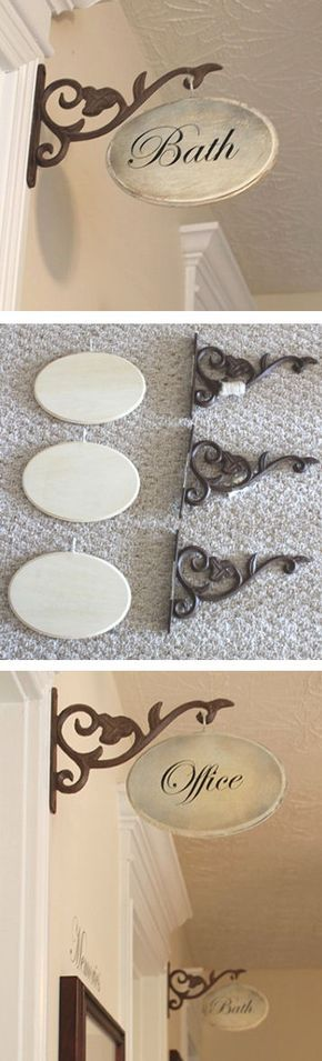 DIY Hallway Signs - would be cool decoration to mark bedrooms in a B&B