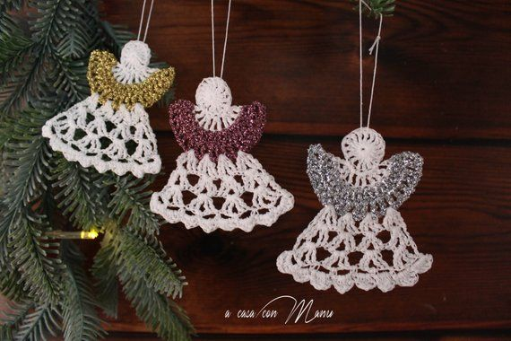 Regali Di Natale Fatti A Mano Alluncinetto.Decorative Crochet Angels You Can Find It On Etsy Uncinetto